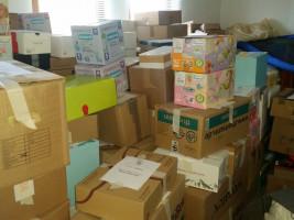 Am Ende kamen weit über hundert Pakete zusammen, die mithelfen, die größte Not der Menschen in den Flüchtlingslagern zu lindern.