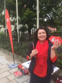 Daniela Gräßle, überzeugte Genossin und Gewerkschafterin